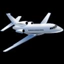 Flyvemaskine der fører til alle destinationer